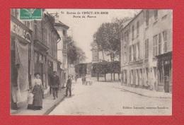 Crécy En Brie --  Porte De Meaux  --  Amincie En Haut  à Droite - Autres Communes