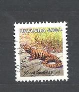 UGANDA    1998 Reptiles USED  Cordylus Sp.spotted Sandveld Lizard - Uganda (1962-...)