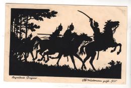 Nr.  7755,  Angreifende Dragoner - War 1914-18