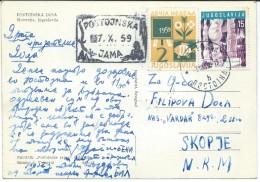 Yugoslavia,Slovenia. Postojna, Nice Stamps.1959 Children´s Week And Stamp Postojna,stamp Cave,seal Cave - Brieven En Documenten