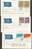 2NV28--  CARTOLINA,    STORIA POSTALE,  FDC.  NATIONS UNITED    PEZZI  3, - New York City