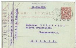 CIRC8-LEVANT EP CP MOUCHON 10c  SD CIRCULEE ACEP N° 3 - Levant (1885-1946)
