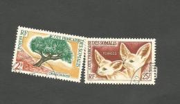 305 Et 308   Flore Et Faune    (cartoclasfdcver) - Côte Française Des Somalis (1894-1967)