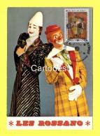 CPM  Cirque ( Centre National Des Arts Du CIRQUE ) Les Rossano Clowns Parodistes (photo Lauprêtre) - Cirque