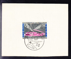 BELGIQUE COB 1052 SUR DOCUMENT OBLITERE DE L'EXPO 58. (6AL505)