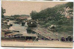 - Indochine - Viêt-Nam - 76 - Le Matin Sur L'Arroyo Chinois, Barques, Rivière, Non écrite, Coins Ok, TBE, Scans. - Viêt-Nam