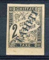 Tahiti 1893 Tasse N. 2 C.  2 Nero MH Catalogo € 470 Sovrastampa Probabile FALSO