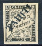 Tahiti 1893 Tasse N. 4 C.  4 Nero MH Catalogo € 530 Sovrastampa Probabile FALSO