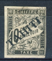 Tahiti 1893 Tasse N. 6 C.  10 Nero Usato Catalogo € 500 Sovrastampa Probabile FALSO