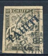 Tahiti 1893 Tasse N. 7 C.  15 Nero Usato Catalogo € 500 Sovrastampa Probabile FALSO