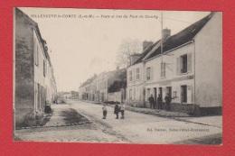 Villeneuve Le Comte  --  Poste Et Rue Du Pont De Couilly - Frankreich