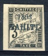 Tahiti 1893 Tasse N. 16 C.  3 Nero MH Catalogo € 680 Sovrastampa Probabile FALSO
