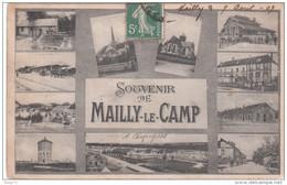 Carte Postale Ancienne - Souvenir De Mailly Le Camp - Vues Multiples - Barracks
