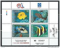 "Micronesia     ""Fishes-Philatelic Exhibition""      Block Of 4      SC# 250  MNH** - Micronesia"