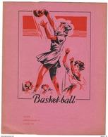 Ancien Protège Cahier Années 1950 - Thème Sport - Basket-ball - Sports
