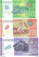Nicaragua - Pick New - 10, 20, 50 Cordobas 2015 - Unc - Set 3 Banknotes - Nicaragua