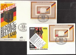 Germany Bonn 1974 / 25 Years Of Federal Republic Of Germany / Coat Of Arms - Covers