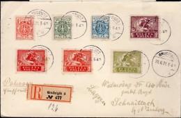 LETTRE RECOMMANDEE 1921 - POSTEE A GRUDZIADZ - CACHET POSTAL ARRIVEE SCHNAITTACH - - 1919-1939 Republik