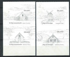 Islande De 2015 Adhésifs Issus De Carnet Neufs Batiments Traditionnels - Ungebraucht
