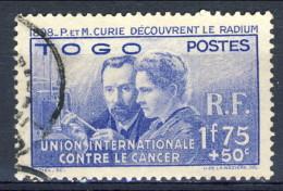 Togo 1938 N. 171 Curie Usato Catalogo € 27