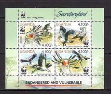 Uganda 2012 Birds /WWF/Fauna - MNH** Mi.3000-3003 - Birds