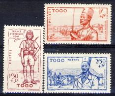 Togo 1941 Serie N. 208-210 Difesa Dell'impero MLH Catalogo E 3