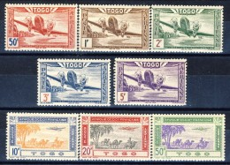 Togo Posta Aerea 1942 Serie N. 9-16 MNH Catalogo € 8,50