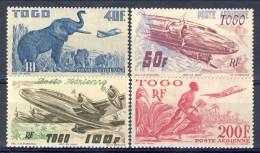 Togo Posta Aerea 1947 Serie N. 17-20 MNH Catalogo € 36