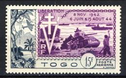 Togo Posta Aerea 1954 N. 22 F. 25 MNG Catalogo € 8,50