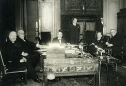 Paris Ministere Des Finances Marin Cheron Pietri Flandin Germain-Martin Ancienne Photo Meurisse 1934 - Famous People