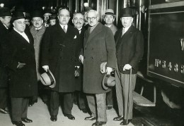 Paris Politiciens Mr Tardieu & Ramsay MacDonald Ancienne Photo Meurisse 1930 - Berühmtheiten