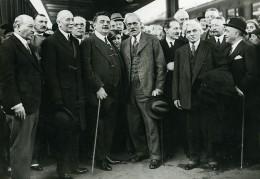 Paris Gare De Lyon Herriot MacDonald Boncour John Simon Ancienne Photo Meurisse 1932 - Berühmtheiten