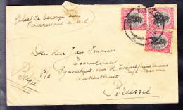 AFRIQUE DE SUD +/- 1926 Y&T 17 (2fois) Et 20 Sur Lettre De PRETORIA Vers BRUXELLES. (6AL558) - Non Classés