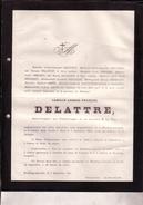 HOUDENG-AIMERIES Camille DELATTRE 1836-1881 Administrateur Charbonnages De La Louvière Et La Paix DEBAUQUE DEMARET - Décès