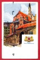 Lettonie. Riga. Eglise Saint-Jean. Aquarelle De E. Volfeila - Lettonie