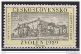Czechoslovakia 1959, Zvolen Castle, 60h, MNH - Czechoslovakia