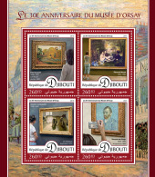 DJIBOUTI 2016 ** Orsay Museum Musée D'Orsay Paintings Gemälde Peintures M/S - OFFICIAL ISSUE - A1644