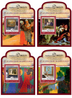 DJIBOUTI 2016 ** Orsay Museum Musée D'Orsay Paintings Gemälde Peintures 4S/S - OFFICIAL ISSUE - A1644