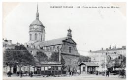 CLERMONT FERRAND - Place De Jaude Et Eglise Des Minimes - Dos Simple - Clermont Ferrand