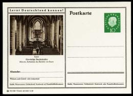 94082) BRD - Bildpostkarte P 41 - 75/443 - * Ungebraucht - 10Pf Heuss II - Essen, Münster, Innenansicht, Kirche - [7] West-Duitsland
