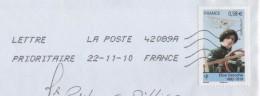 LETTRE ENTIERE - FLAMME 42089A DE 2010 - AVIATION ELISE DEROCHE  SEUL SUR LETTRE - VOIR LE SCANNER - France