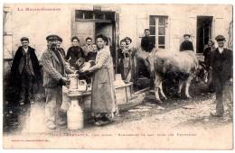 CPA 1907 ANIMEE FOUGARON PRES ALBAS RAMASSAGE DU LAIT POUR LES FRUITIERES Boeufs Attelés Au Traineau - Otros Municipios