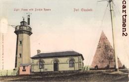 PORT ELZABETH LIGHT HOUSE WITH DONKIN RESERE SOUTH AFRICA AFRIQUE DU SUD CAPE TOWN - Afrique Du Sud