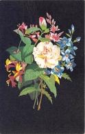 FLEURS  CAMELIA, CHEVREFEUILLE, DIGITALE   ILLUSTRATEUR   CARTE DESSINEE - Fleurs