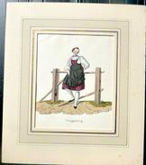 SUISSE SWISS COSTUME DE GOUGGISBERG   COULEURS - Prints & Engravings