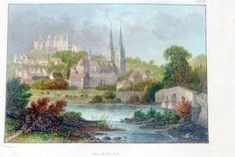SUISSE SWISS VUE DE MARBURG D'APRES REISS  COULEURS POSTERIEURES - Prints & Engravings