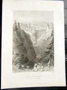 SUISSE SWISS VUE DU DEFILE DE GOTTERON  FRIBOURG - Estampes & Gravures