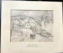 SUISSE SWISS VUE DE  RIGI KLOSTERLI  OPPERMANN POINTE SECHE  VERS 1860 - Estampes & Gravures