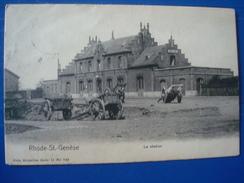 RHODE-ST-GENESE : La Station En 1900 - Rhode-St-Genèse - St-Genesius-Rode