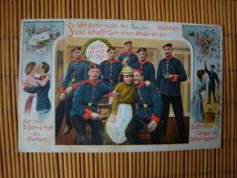 Litho, So Lebt Denn Wohl Ihr Casseler Mädchen......, Gelaufen - Guerre 1914-18